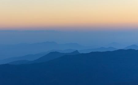 view of mountain range  Stock Photo