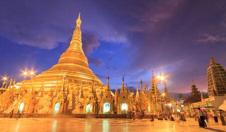 Shwedagon pagoda,Myanmar Stock Photo