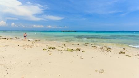 Pattaya beach in summer season,Thailand Stock Photo