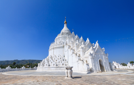 White pagoda in Myanmar