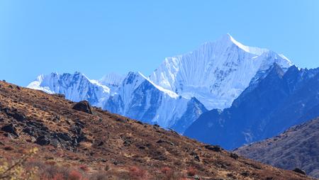 Himalaya range in Langtang , Nepal
