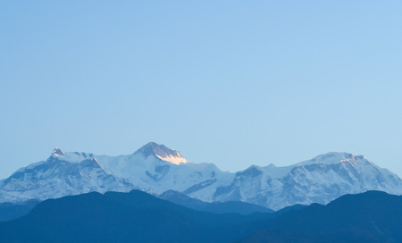 Annapurna range view from Pokhara city,Nepal Stock Photo