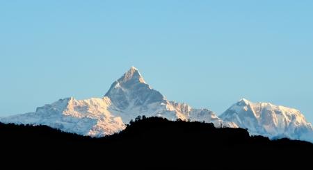 Annapurna range view from Pokhara city,Nepal Stock Photo