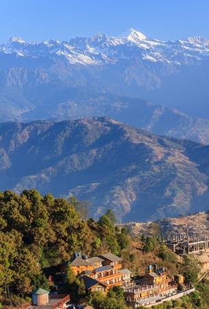 Himalaya range view from Nagarkot village Editorial
