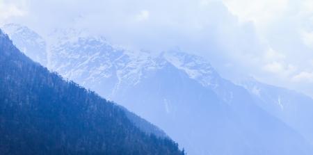 Himalaya range in north sikkim, India