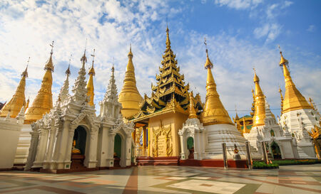 Shwedagon pagoda Myanmar Stock Photo