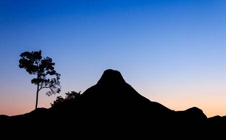 mountain before sunrise