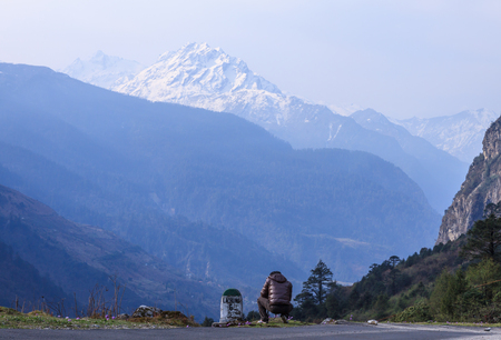 Yumthang valley north sikkim India Stock Photo