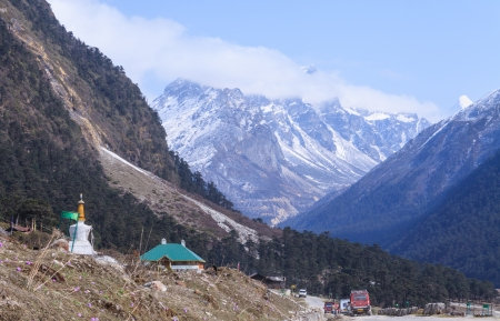 Yumthang valley north sikkim India Editorial