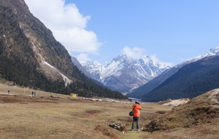 Yumthang valley north sikkim India Standard-Bild