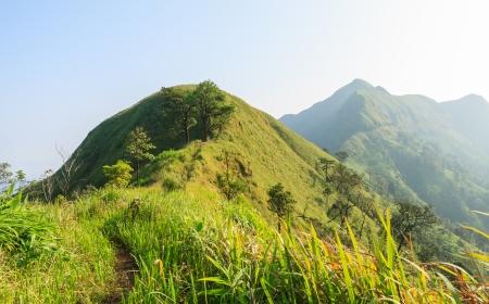 mountain range in morning