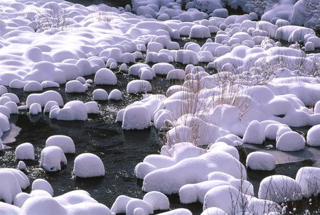 冬の川 写真素材