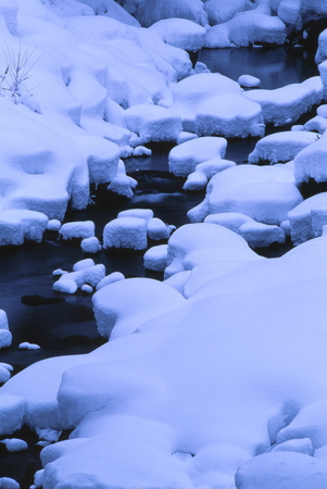 Winter riverbed