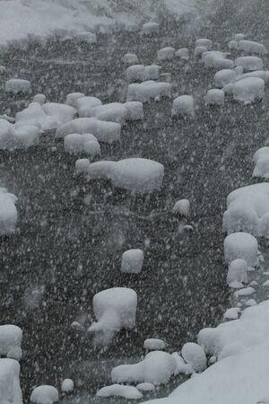 雪の川 写真素材