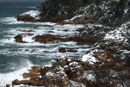 冬の海岸 写真素材