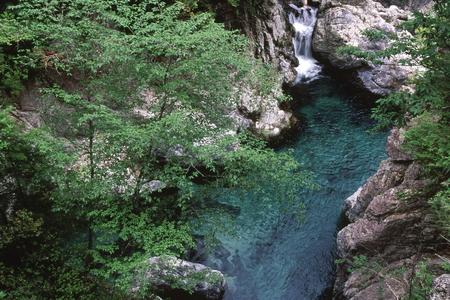 初夏の渓谷 写真素材 - 76396339
