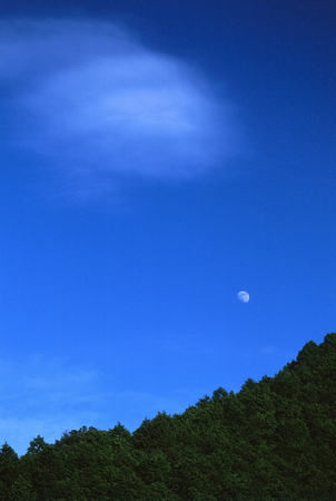 Moon and cloud 写真素材