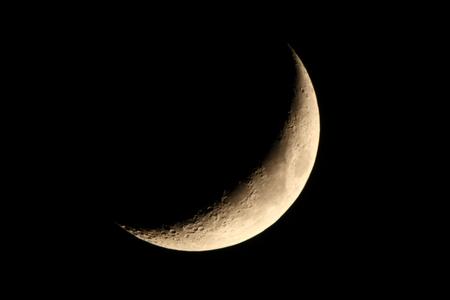 Crescent (Moon's age:4.5) 写真素材 - 76396387