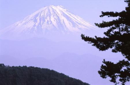 富士山とヘイズ