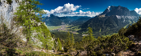 panoramic of ehrwald in tyrol