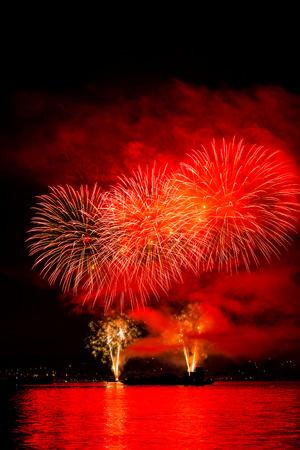 view of a sea firework Фото со стока