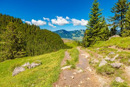 view of rubihorn trail in bavaria