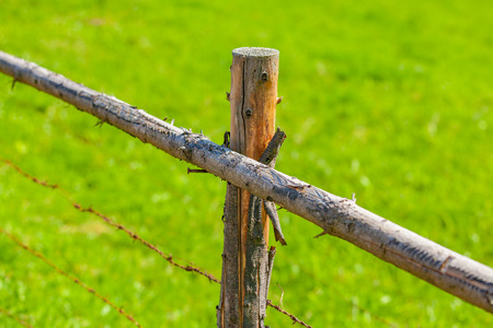 view of a fiels fence