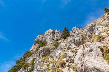 orla: Alpinism trail in high mountains Stock Photo