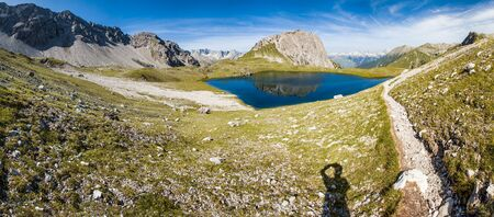 majastetic hiking trail in the maintains - lech - austria - kogelsee