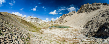 majastetic hiking trail in the maintains - lech - austria - seewiesee Stock Photo