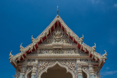 buddhist temple roof: Wat Thai buddhist temple roof detail ,Thailand  Stock Photo