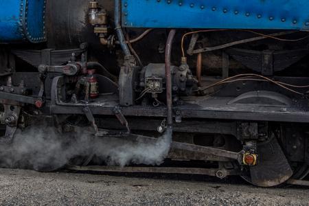 steam train: Steam train running in India.