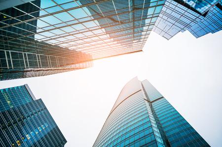 Nowoczesne drapacze chmur centrum biznesu. Zdjęcie Seryjne