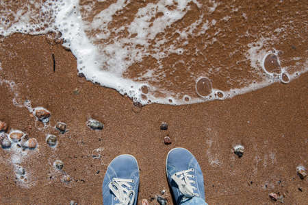 foots: foots on the sand by the sea