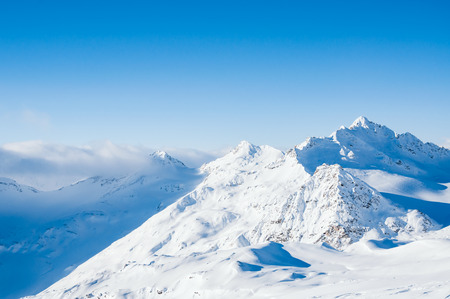 snow covered mountains: Winter snow covered mountains. Beautiful winter landscape