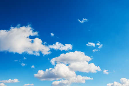 bright sky: Beautiful blue sky with white clouds. Sky background