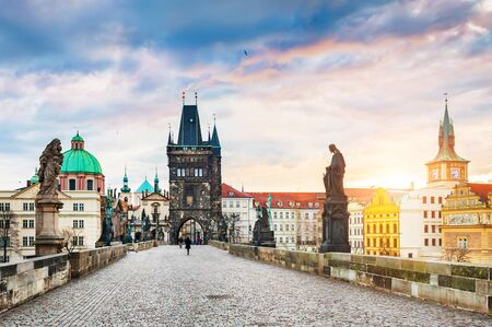 charles bridge: Charles Bridge and Old Town in Prague, Czech Republic