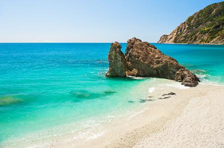 ''cinque terre'': Beautiful beach in Monterosso, Cinque Terre national park, Liguria, Italy