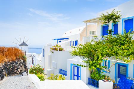 santorini island: White architecture on Santorini island, Greece.