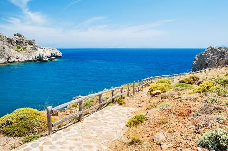 Beautiful sea coast on Crete island, Greece