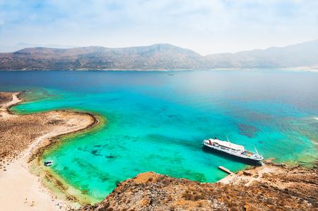 Beautiful sea coast with turquoise water. Crete island, Greece.