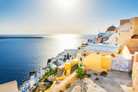 Santorini island, Greece. Beautiful landscape, sea view.