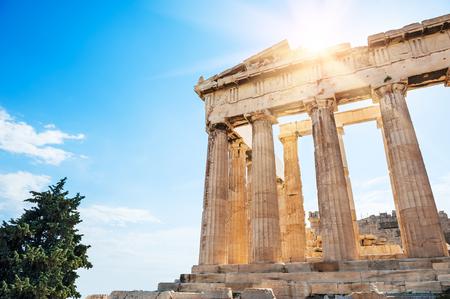 Parthenon temple on the Acropolis in Athens, Greece Stock Photo