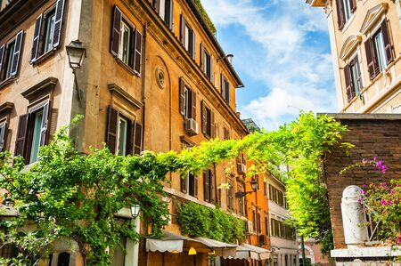 Beautiful ancient architecture in the historic Trastevere district, Rome, Italy Reklamní fotografie - 79381151