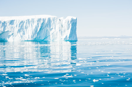 Big icebergs in the Ilulissat icefjord, Greenland Stock Photo