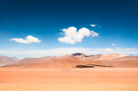 avaroa: High-altitude desert landscape on plateau Altiplano, Bolivia Stock Photo