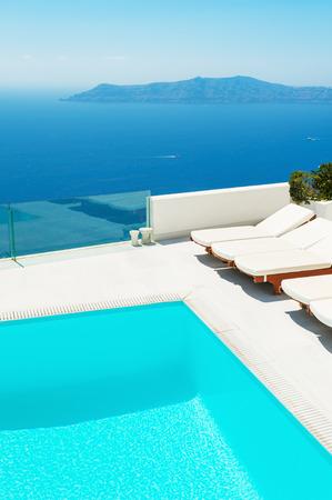 Santorini island, Greece. Luxury resort. Travel and vacation