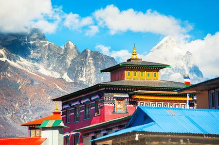 Tengboche Monastery in Himalaya mountains. Khumbu valley, Everest region, Nepal