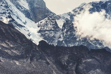 Himalaya mountains at altitude of 6000 m. Khumbu valley, Everest region, Nepal Stock Photo