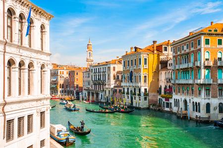 Uitzicht op het Canal Grande in Venetië, Italië. Beroemde reisbestemming
